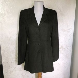 Cynthia Steffe Green Fitted L/S Blazer